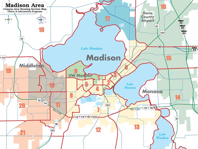 Madison section map