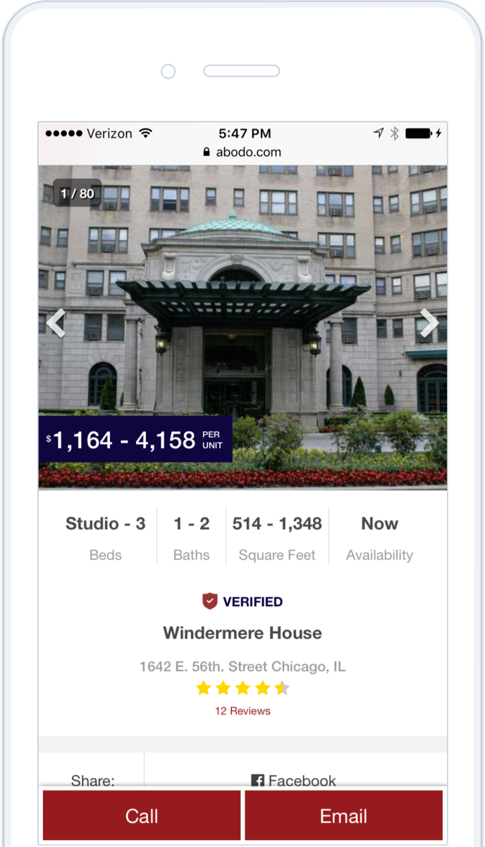 Property page mobile